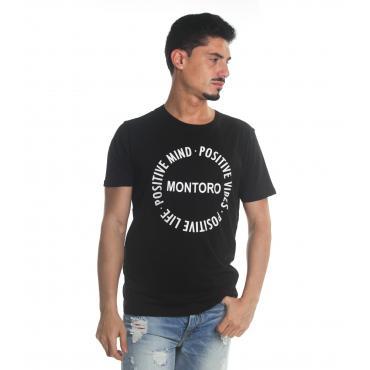 T-Shirt Tony Montoro girocollo in cotone con stampa da uomo rif. 1927