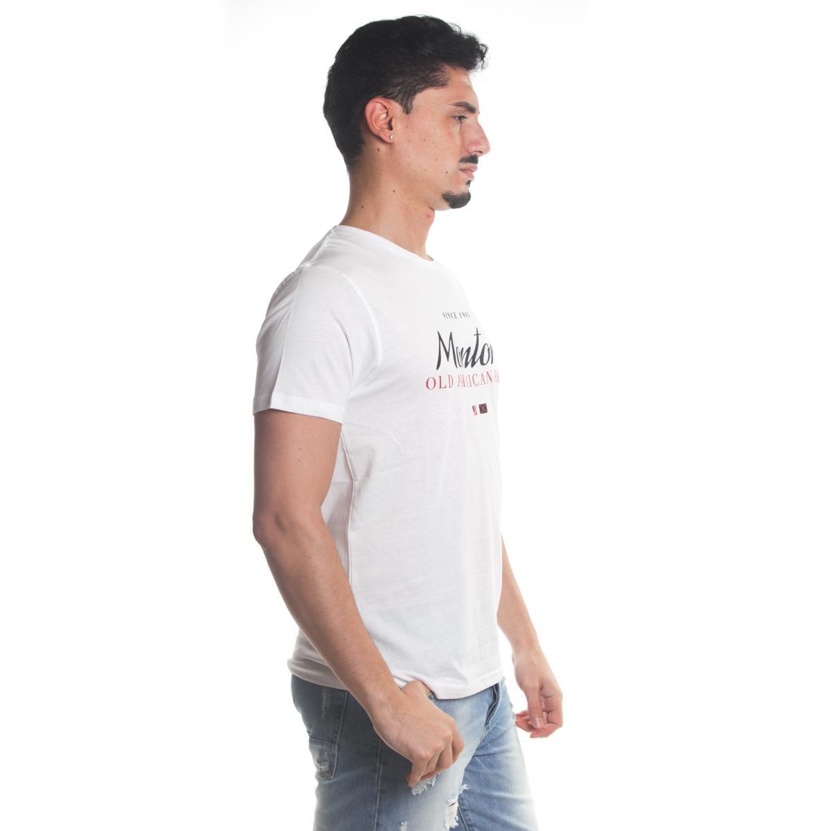 T-Shirt Tony Montoro girocollo in cotone con stampa da uomo rif. 1928