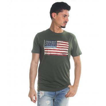 T-Shirt Tony Montoro girocollo in cotone con stampa da uomo rif. 1929