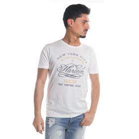 T-Shirt Tony Montoro girocollo in cotone con stampa da uomo rif. 1930