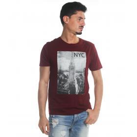 T-Shirt Tony Montoro girocollo in cotone con stampa da uomo rif. 1932