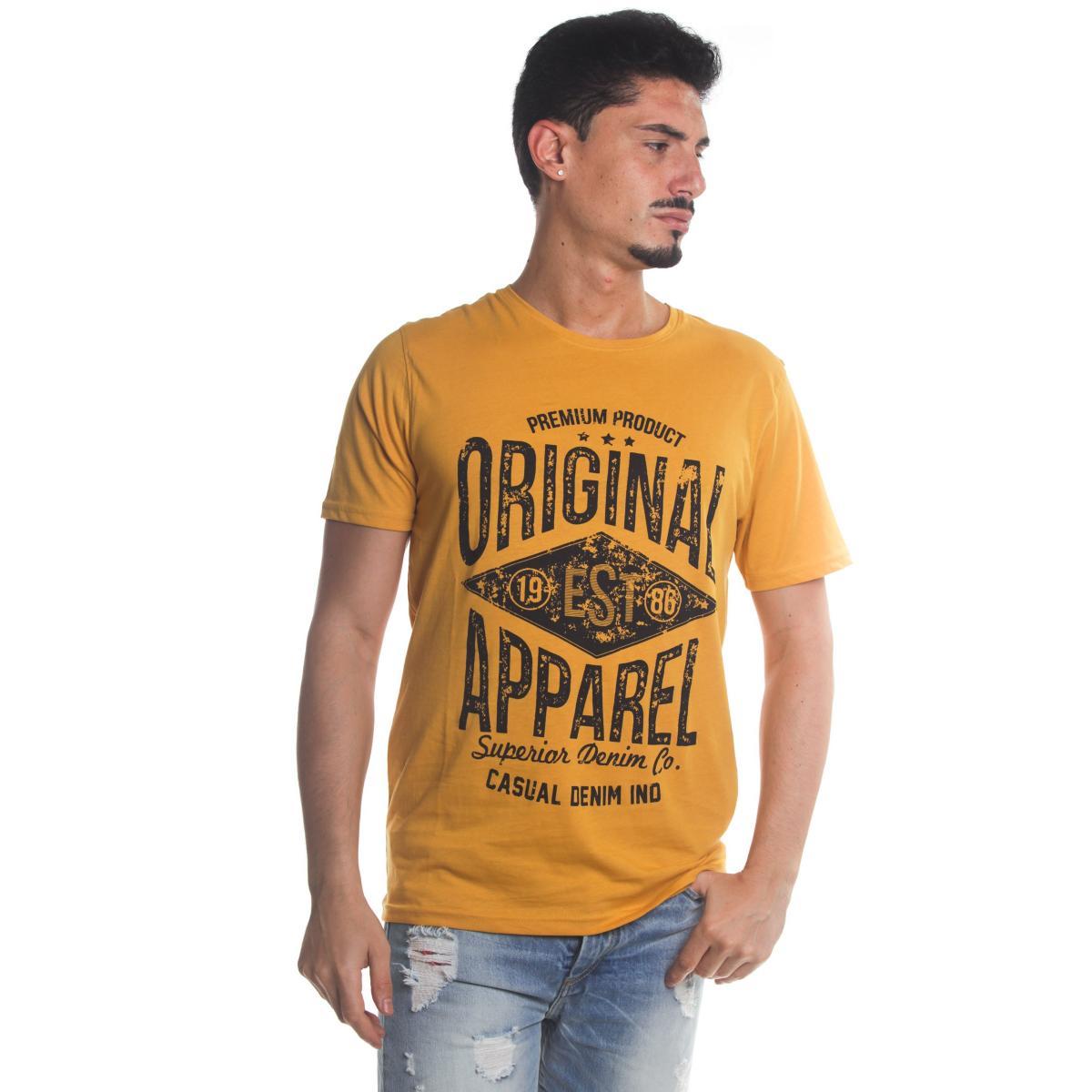 T-Shirt Tony Montoro girocollo in cotone con stampa da uomo rif. 1933