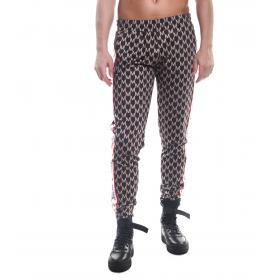 Pantaloni tuta MINIMAL con logo all over e bande laterali da uomo rif. U2087