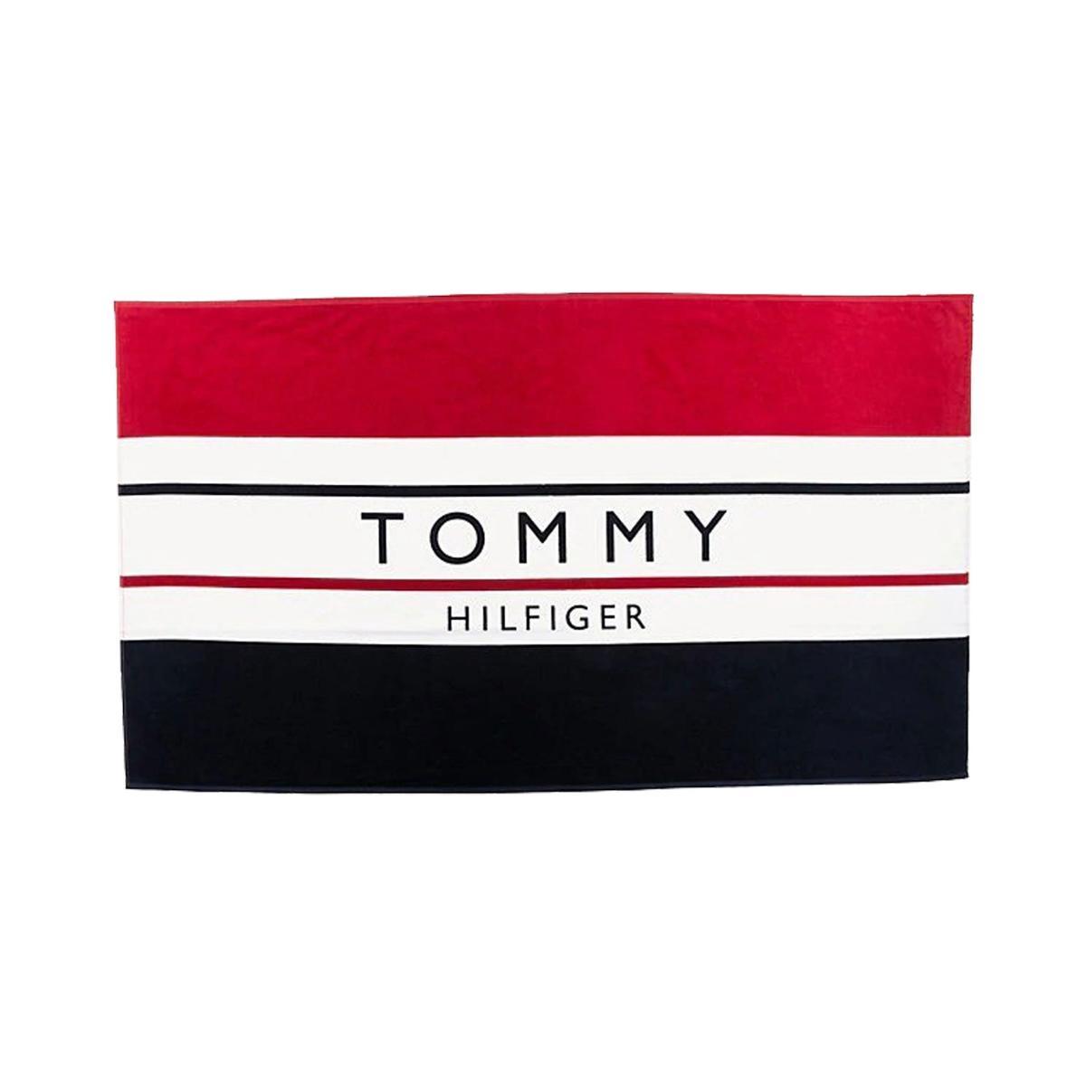 Telo mare Tommy Hilfiger in puro cotone con logo unisex rif. UU0UU00022