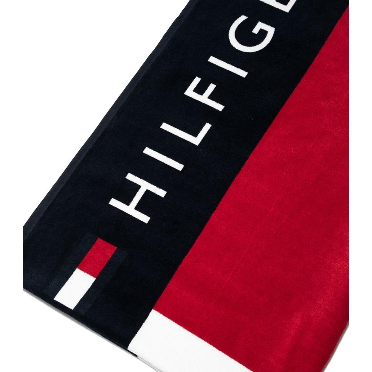 Telo mare Tommy Hilfiger in spugna di cotone con stampa rif. UU0UU00018
