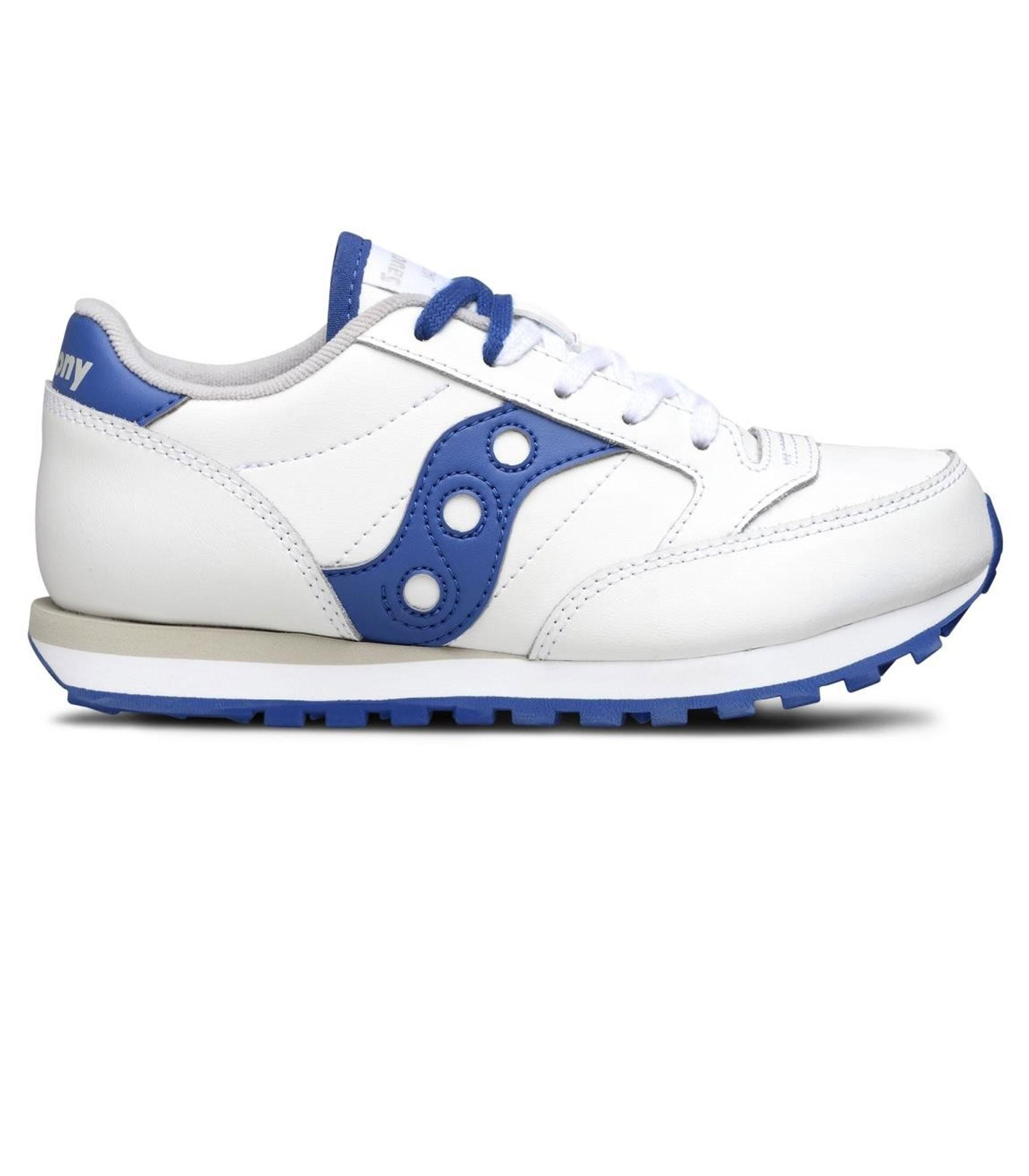 elegante e grazioso più amato ultimo design Scarpe Sneakers Saucony Jazz Original White/Blue da bambino ...