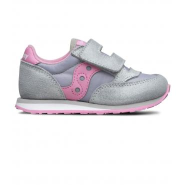 Scarpe Sneakers Saucony Baby Jazz HL Silver/Pink da bambina rif. SL161038