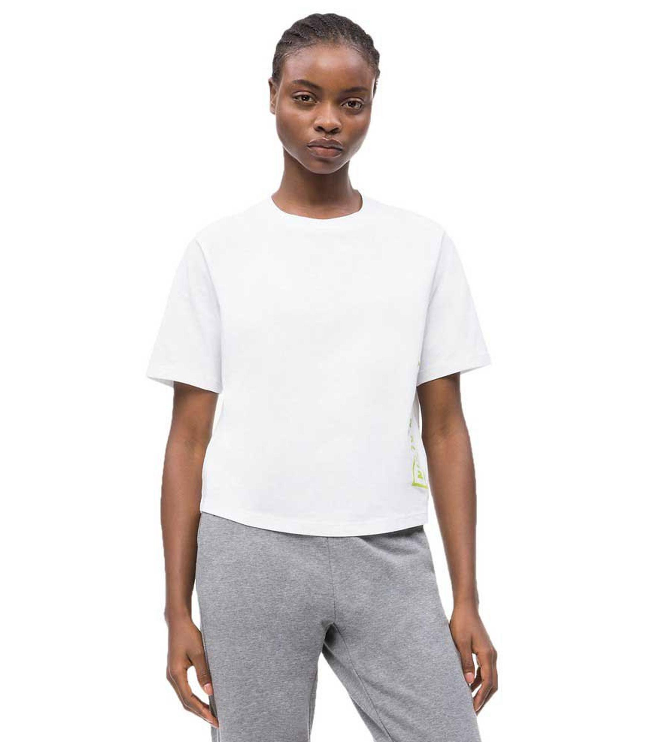 pretty nice dfed5 fa38f T-shirt Calvin Klein Performance in cotone con logo da donna ...