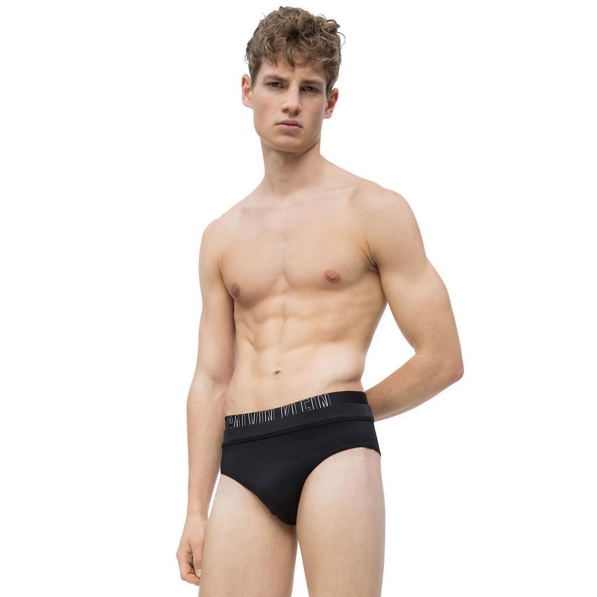 Costume slip da bagno Calvin Klein CK Swimwear con doppia fascia in vita da uomo rif. KM0KM00257