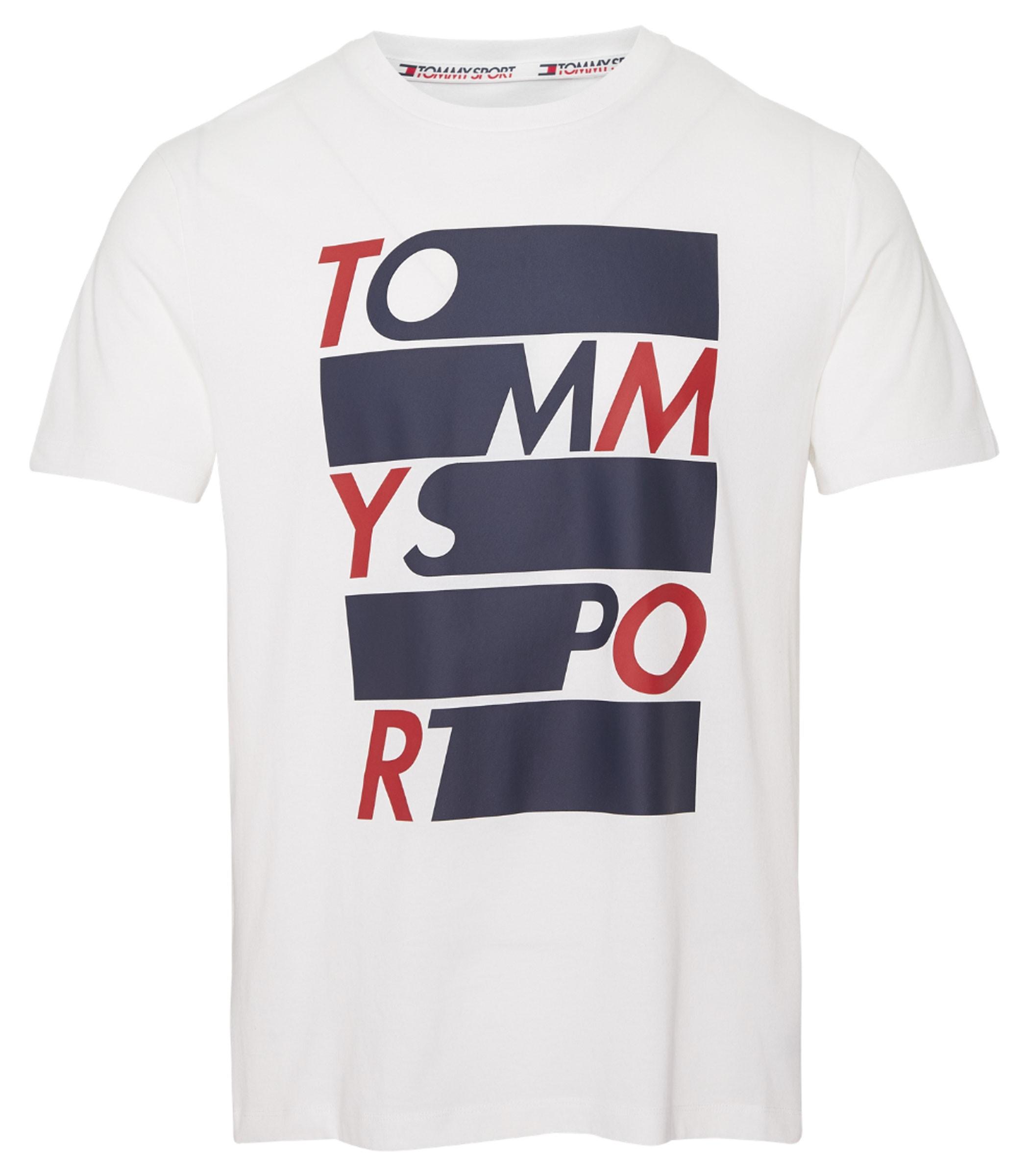 premium selection 6e03c 6aea0 T-shirt Tommy Hilfiger Sport con logo sul davanti uomo ...