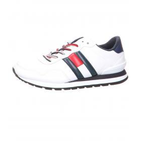 Scarpe Sneakers Tommy Hilfiger Leather Lifestyle in pelle da uomo rif. EM0EM00349