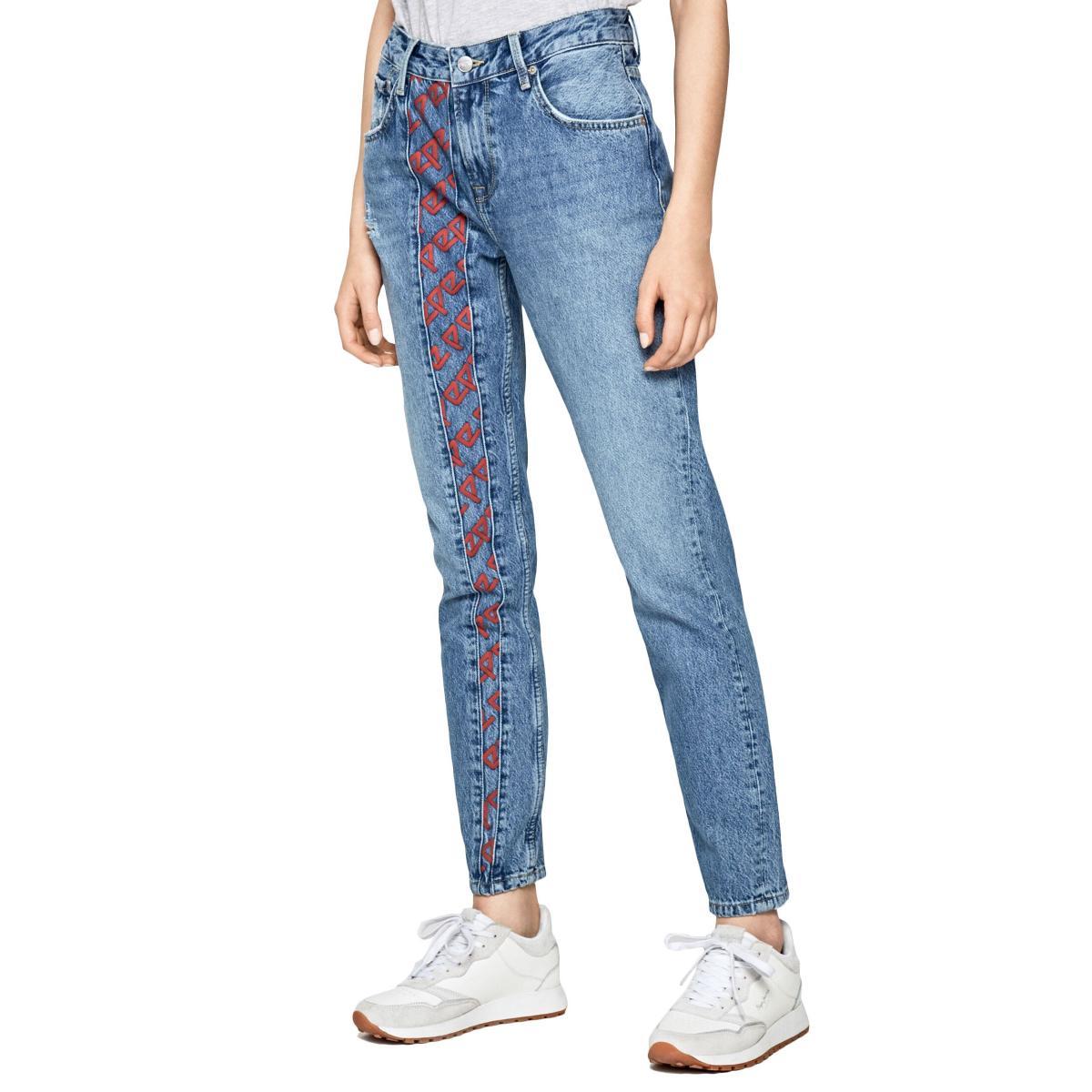 Jeans Pepe Jeans Violet archive con stampa da donna rif. PL203435R VIOLET ARCHIVE