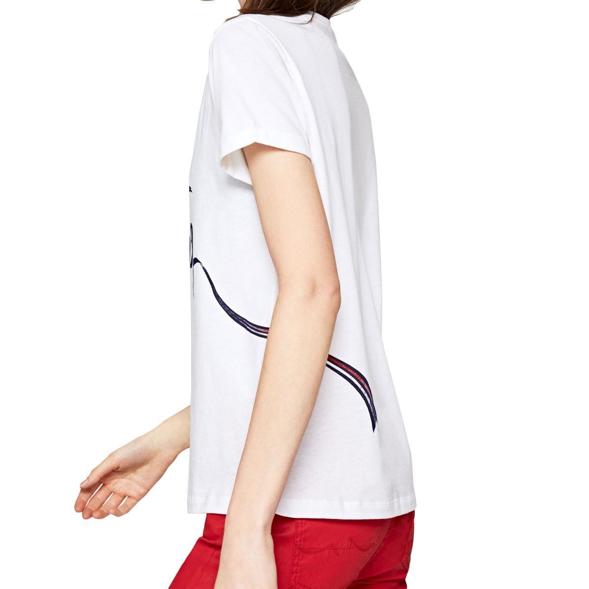 T-shirt Pepe Jeans Anouck con stampa effetto sfocato da donna rif. PL504168 ANOUCK