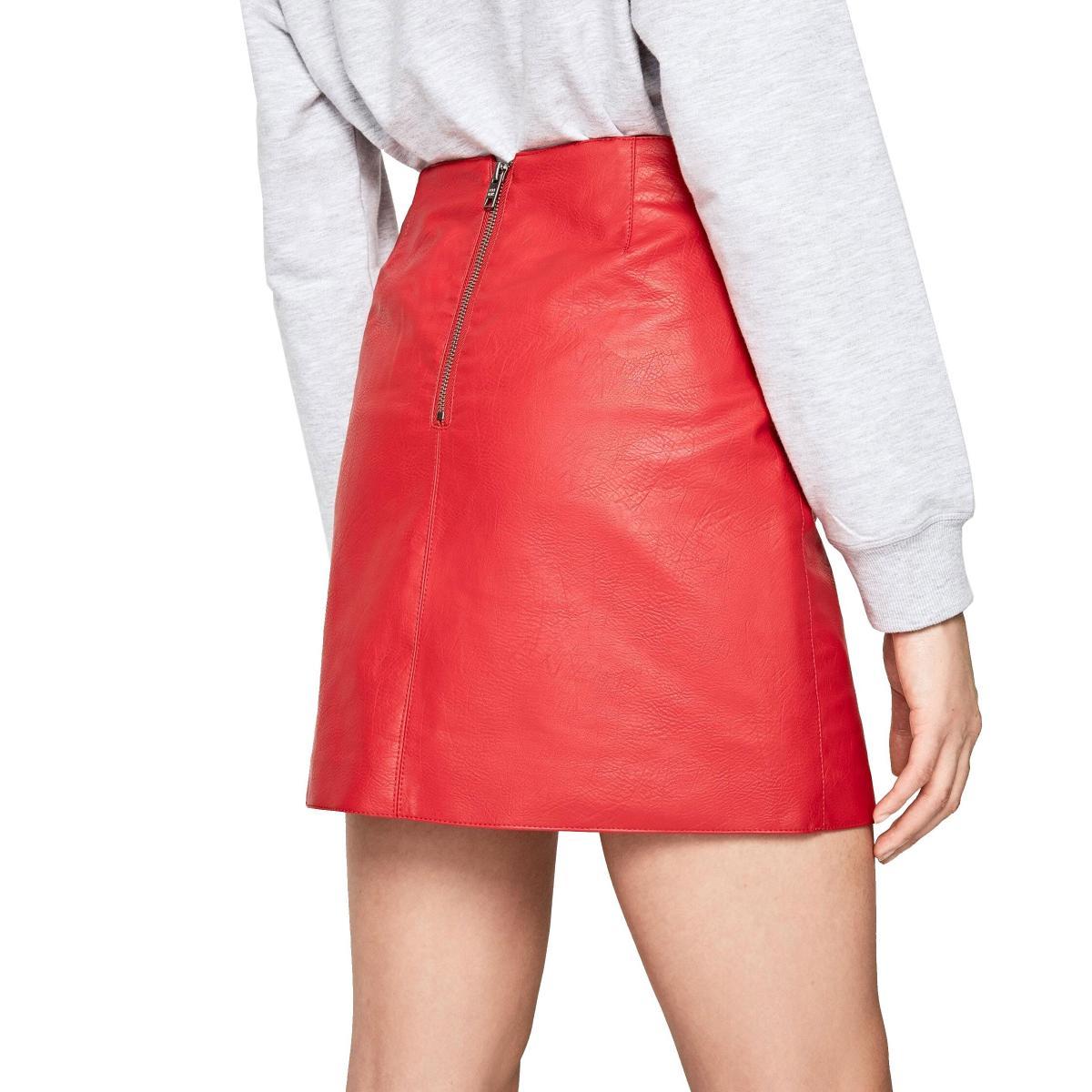 Minigonna Pepe Jeans Henar in ecopelle da donna rif. PL900813 HENAR
