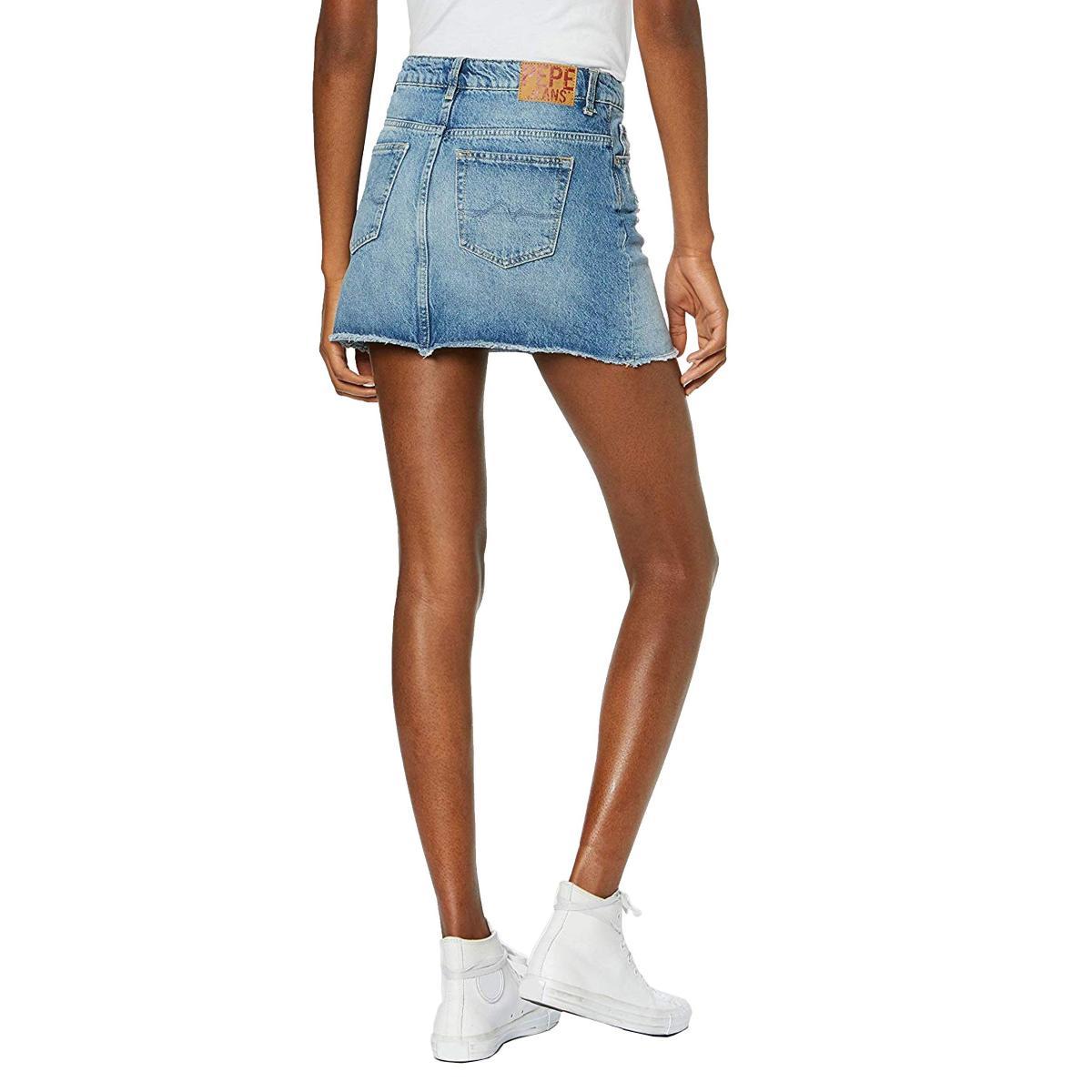 Minigonna Pepe Jeans in denim con stampe da donna rif. PL900819 DANI ARCHIVE