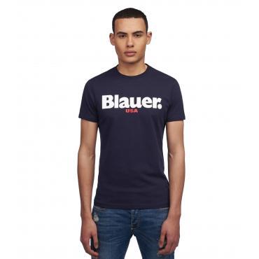 T-shirt Blauer USA con stampa sul petto da uomo rif. 19SBLUH02149 004547