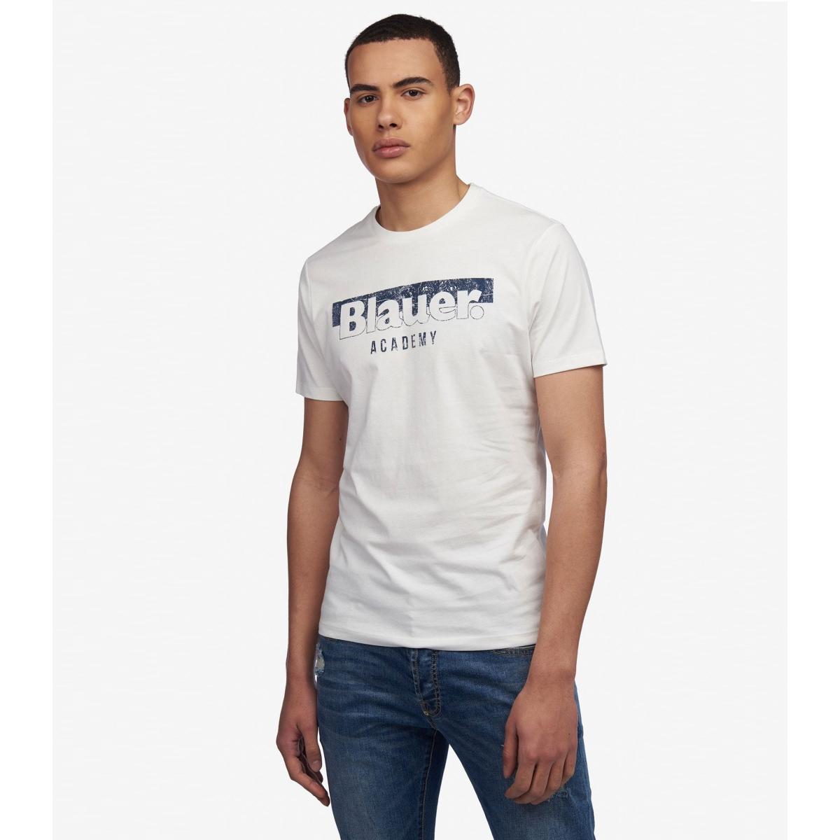 T-shirt Blauer USA Academy con stampa sul petto da uomo rif. 19SBLUH02154 004547