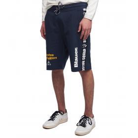 Pantaloncini shorts Blauer USA Boston Squad con stampe da uomo rif. 19SBLUF07267 005309