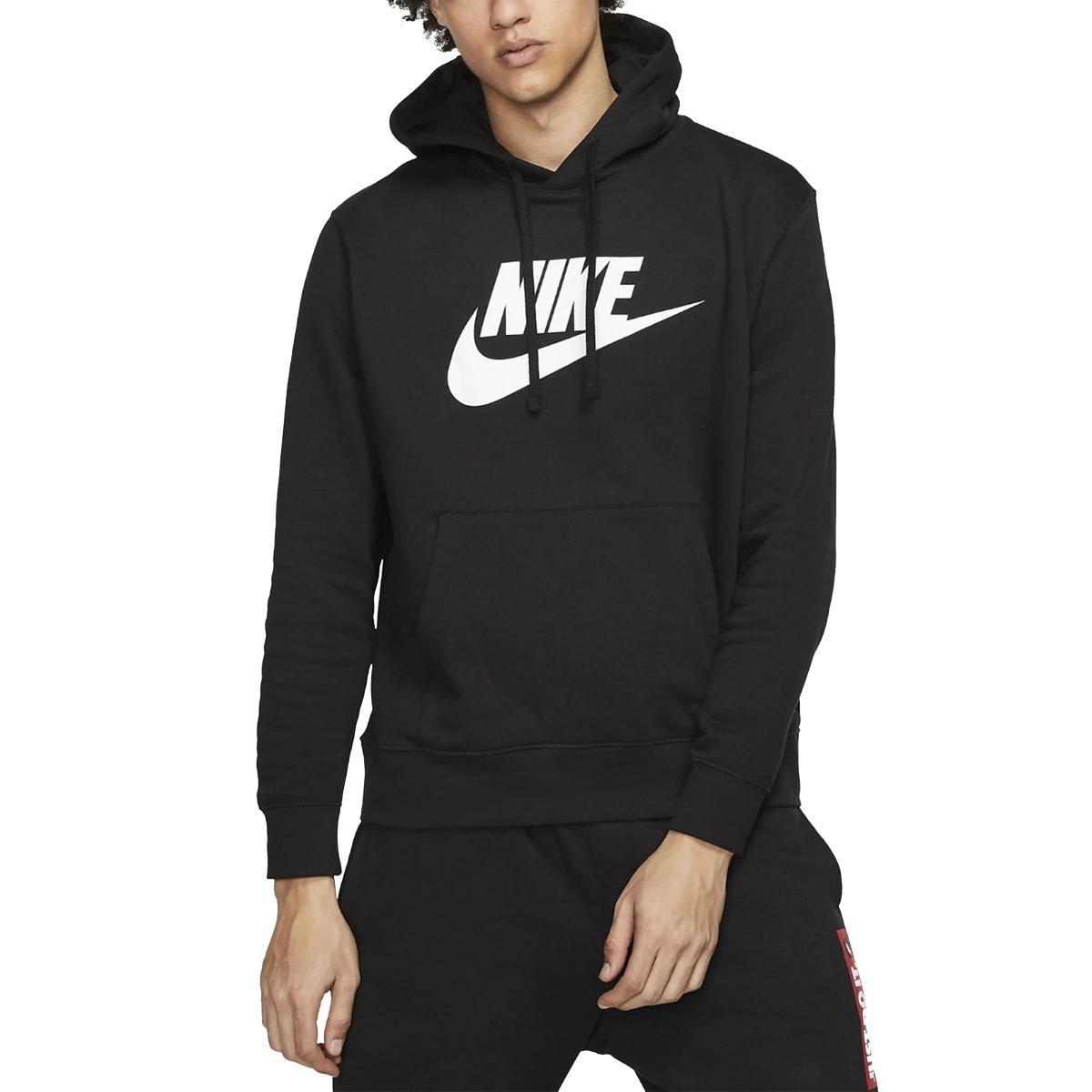 Felpa Pullover Nike Sportwear Club Fleece con cappuccio e stampa da uomo rif. BV2973-010