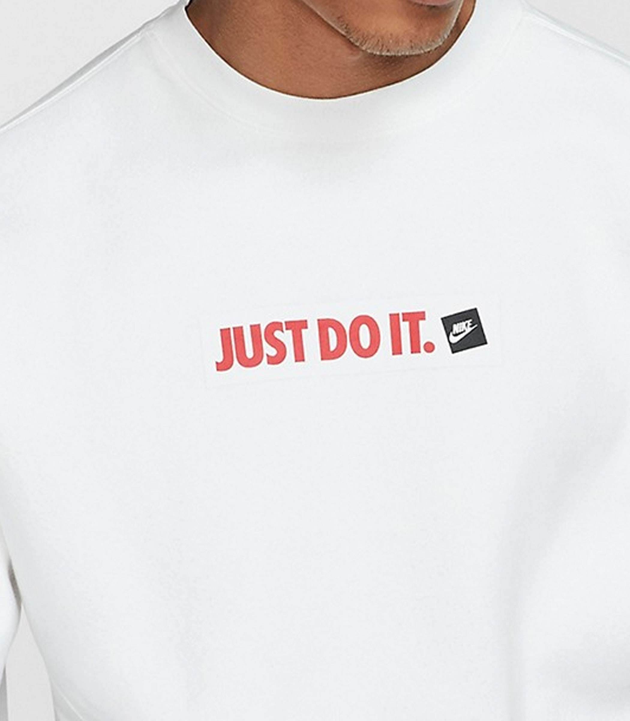 Felpa Nike Sportswear girocollo con stampa Just Do It uomo