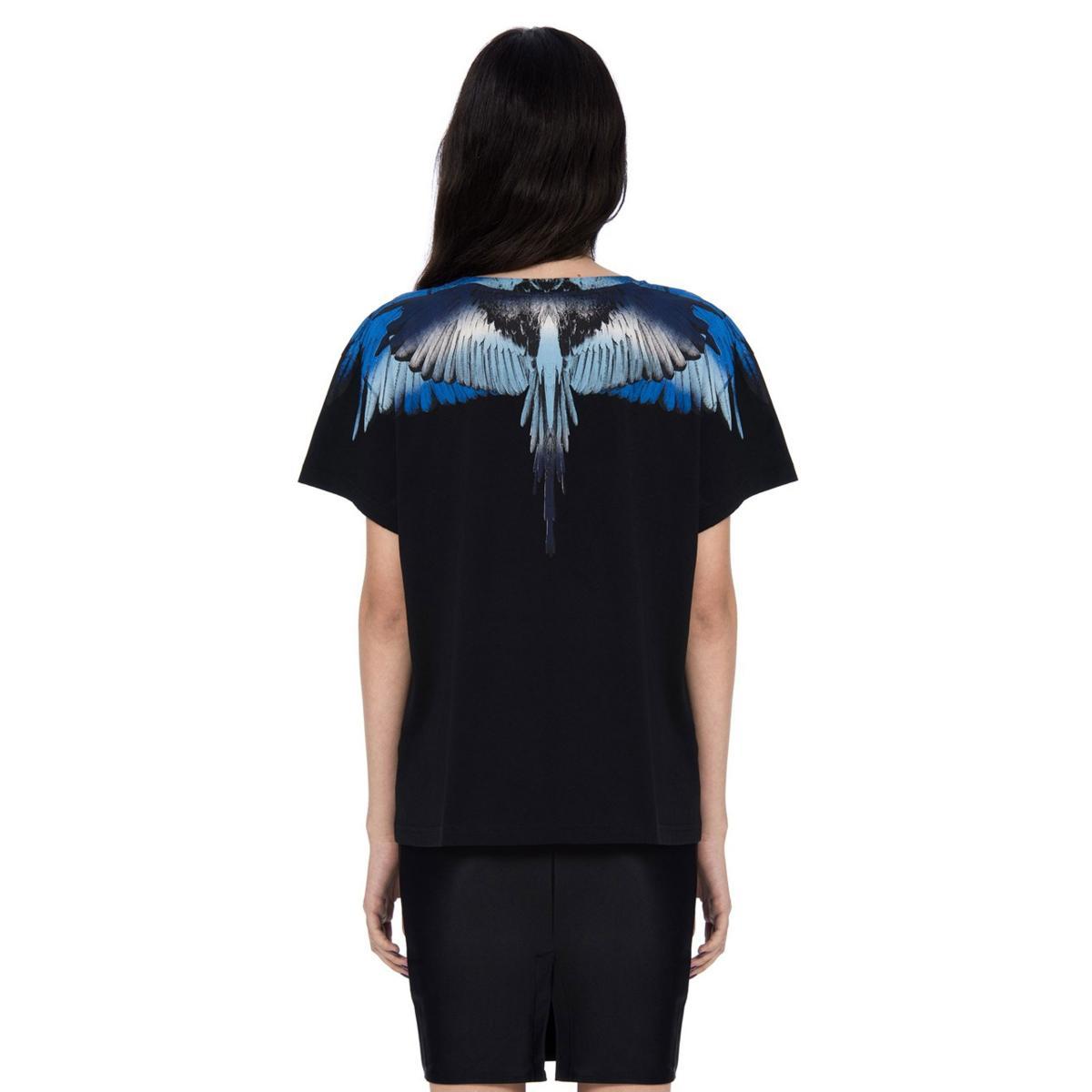 T-shirt Marcelo Burlon Blue Wings da donna rif. BLUE WINGS