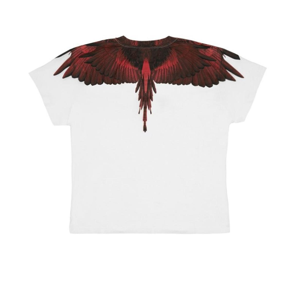 T-shirt Marcelo Burlon Fuchsia Wings con stampa da donna rif. FUCHSIA WINGS