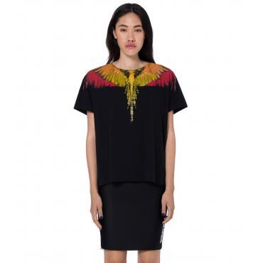 T-shirt Marcelo Burlon Glitch Wings con stampa da donna rif. GLITCH WINGS