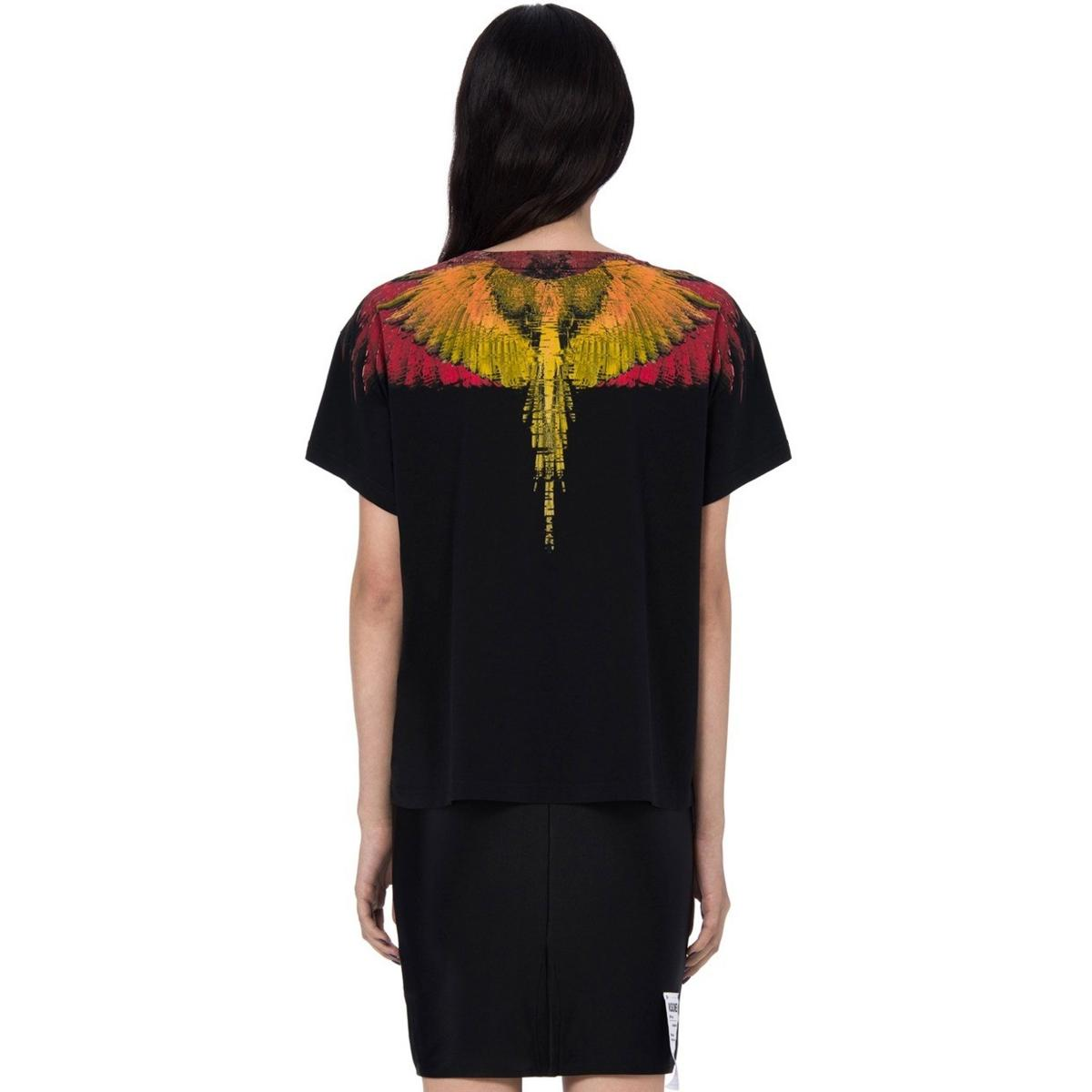 T-shirt Marcelo Burlon Glitch Wings con stampa da donna rif. GLITCH WINGS