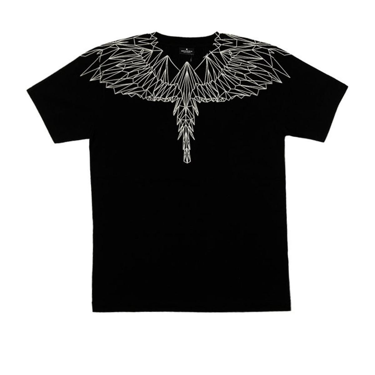T-shirt Marcelo Burlon Neon Wings con stampa unisex rif. NEON WINGS