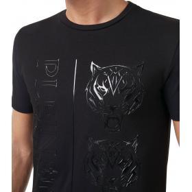 T-shirt Plein Sport Round Neck SS Tiger con logo da uomo rif. MTK3372