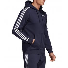 Dettagli su Felpa con cappuccio Adidas Track Jacket Essentials 3 Stripes da uomo rif DU0475