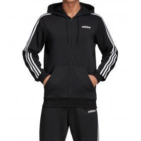 Felpa con cappuccio Adidas Track Jacket Essentials 3-Stripes da uomo rif. DQ3101