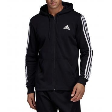Felpa Adidas con cappuccio e cerniera Must Haves 3-Stripes da uomo rif. DT9896