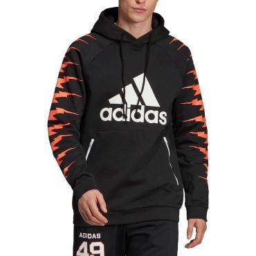 Felpa Adidas con cappuccio e stampe ID Graphic Hoodie da uomo rif. EB7620