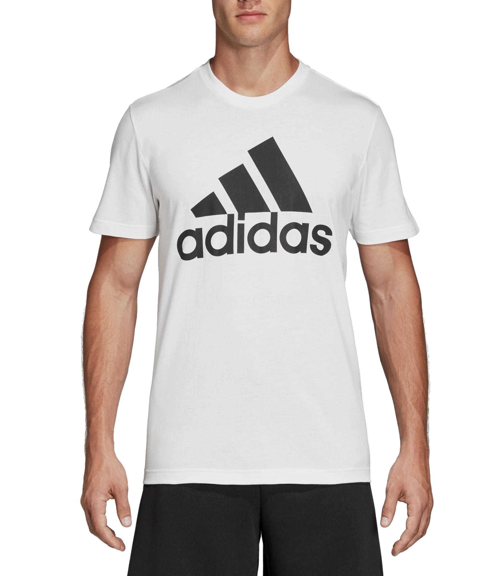 T shirt Adidas girocollo con stampa Essentials 3 Stripes