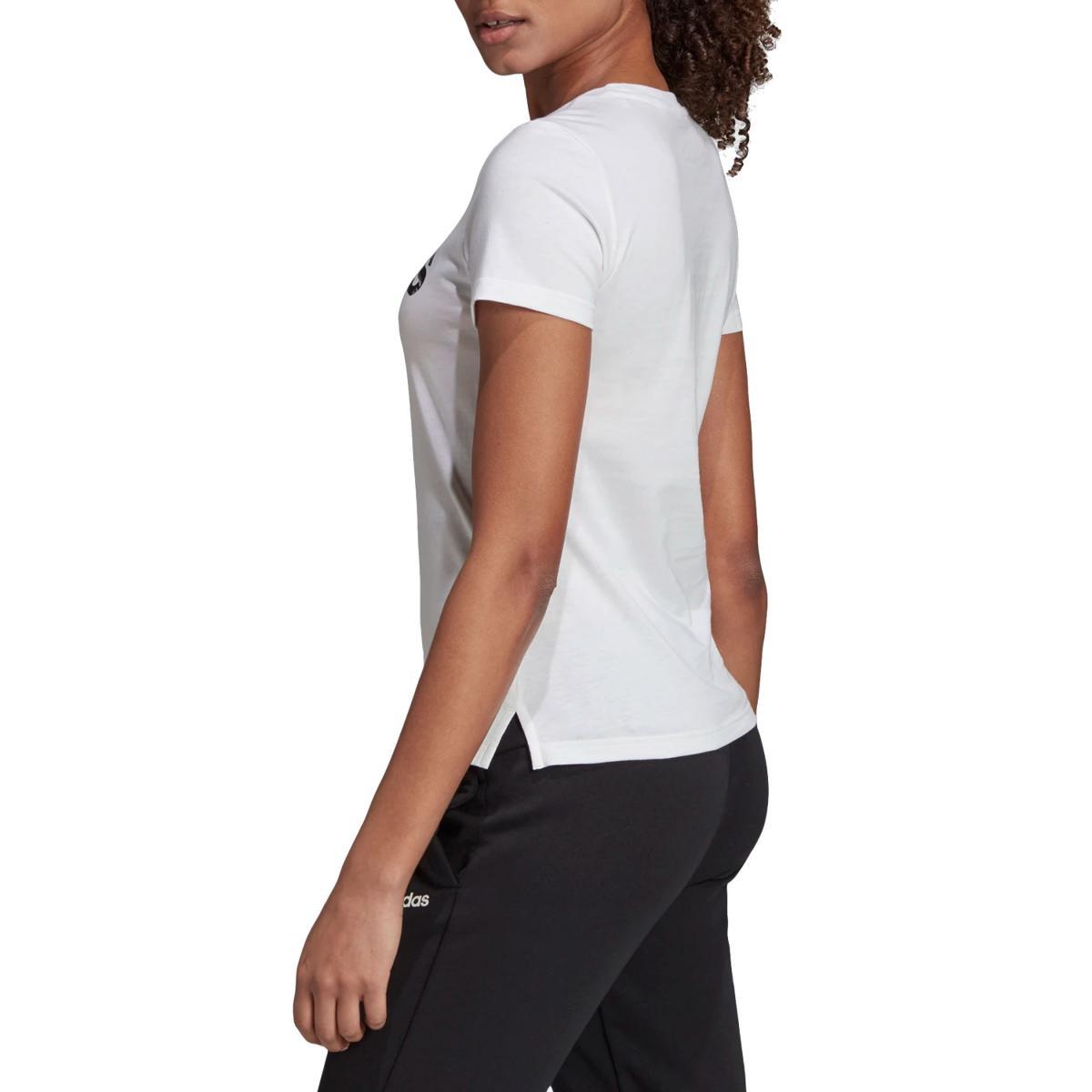 T-shirt Adidas girocollo con stampa Brush Effect Logo Graphic Tee da donna rif. EI4559