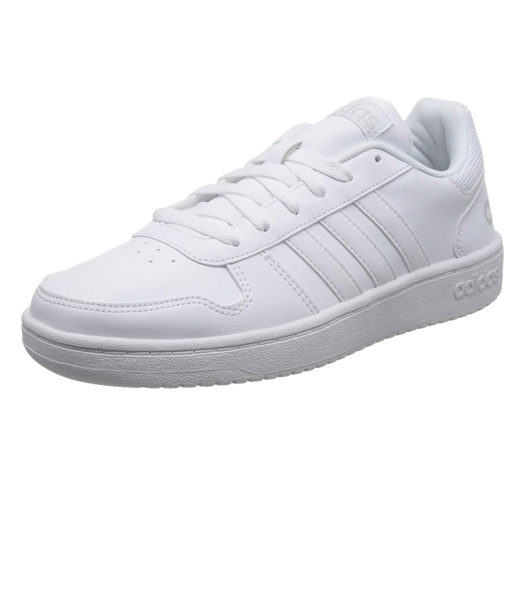Scarpe Sneakers basse bianche Adidas Hoops 2.0 da uomo rif