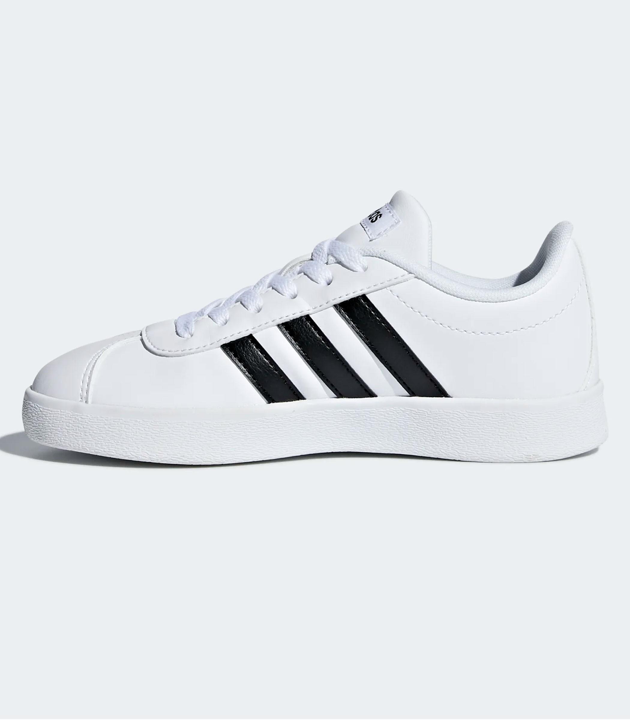 Scarpe Sneakers basse Adidas VL Court 2.0 bianche da bambino