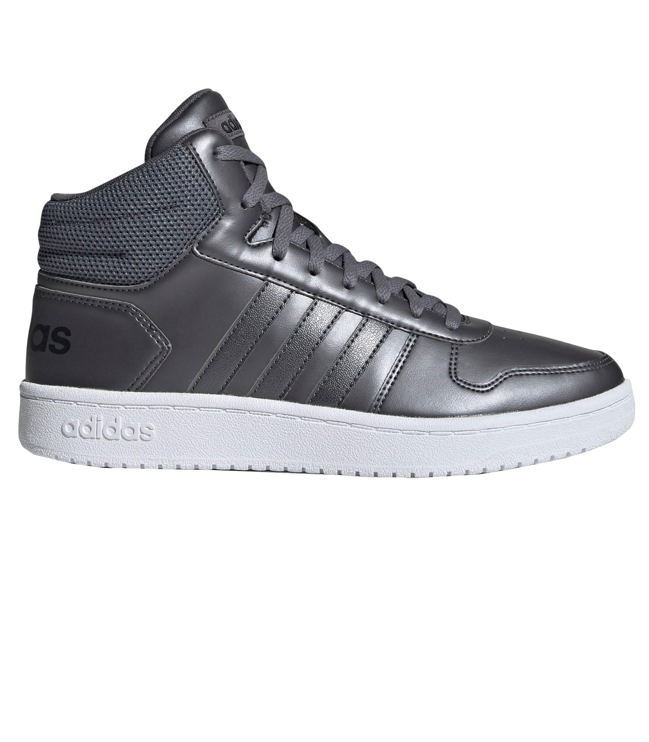 Scarpe Sneakers Adidas Hoops 2.0 Mid colore grigio da donna ...