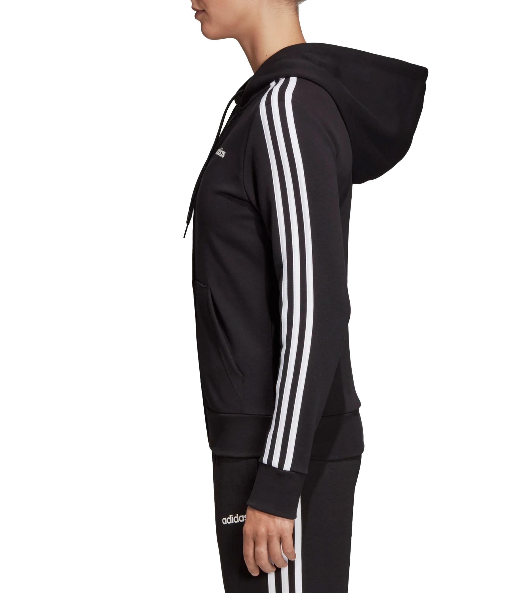 sports shoes 8c473 92ae3 Felpa con cappuccio Adidas Essentials 3-Stripes da donna rif ...