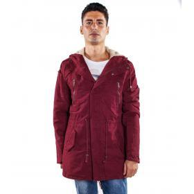 Giubbotto Parka foderato in pelliccia con cappuccio da uomo rif. WT6532