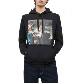Felpa Calvin Klein Jeans con cappuccio e stampa fotografica da uomo rif. J30J312449