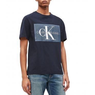 T-shirt Calvin Klein Jeans con logo monogramma da uomo rif. J30J312477