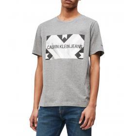 T-shirt Calvin Klein Jeans stampata patchwork da uomo rif. J30J312485