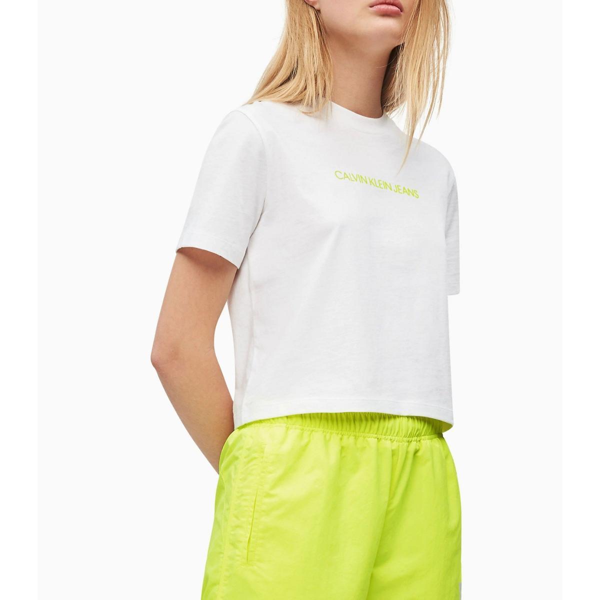 T-shirt Calvin Klein Jeans corta in cotone biologico da donna rif. J20J211495