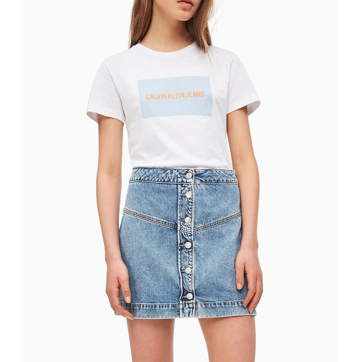 T-shirt Calvin Klein Jeans slim con logo da donna rif. J20J211503