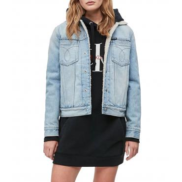 Giubbotto Calvin Klein Jeans Sherpa in denim da donna rif. J20J211423