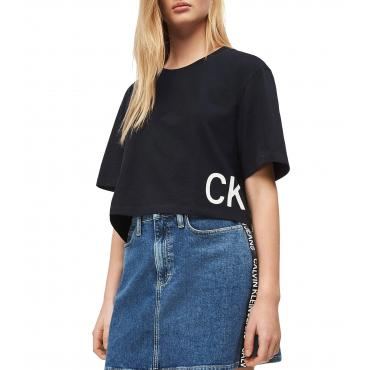T-shirt Calvin Klein Jeans corta con logo in cotone biologico da donna rif. J20J211509