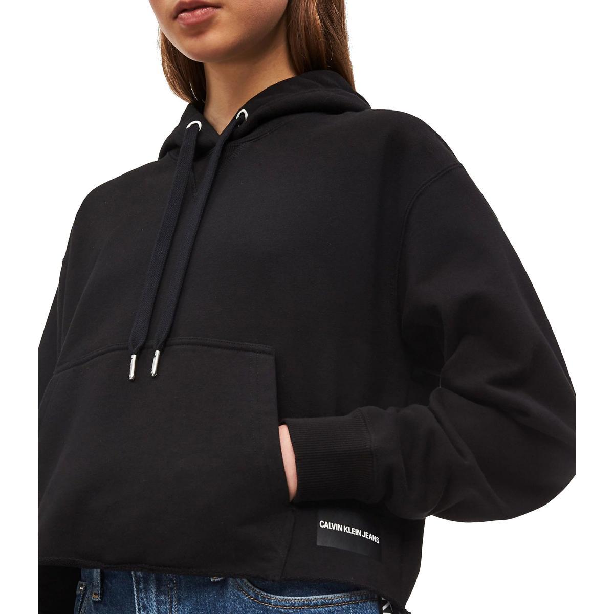 Felpa Calvin Klein Jeans con cappuccio con finitura grezza da donna rif. J20J211600