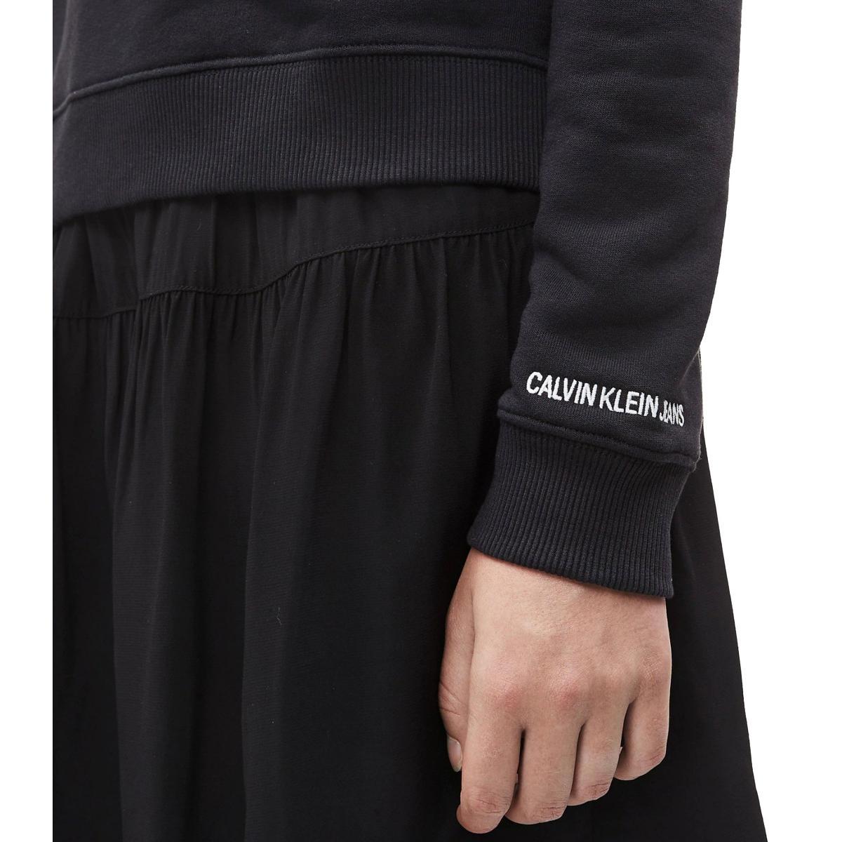 Felpa Calvin Klein Jeans girocollo squadrata da donna rif. J20J211790